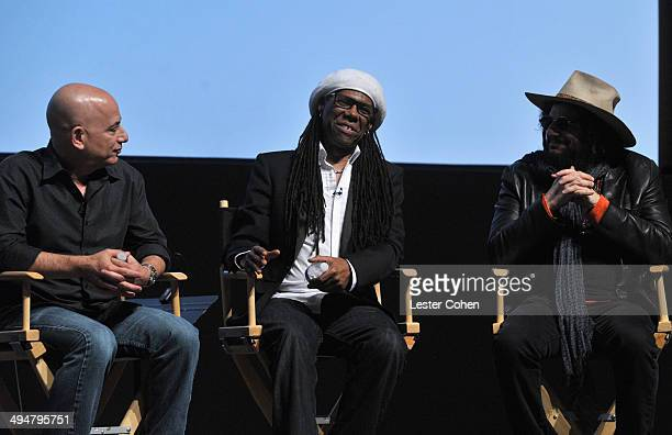 CBS Executive Vice President Jack Sussman musicians Nile Rodgers and Don Was speak onstage during A Conversation About the 56th GRAMMYS And Beatles...