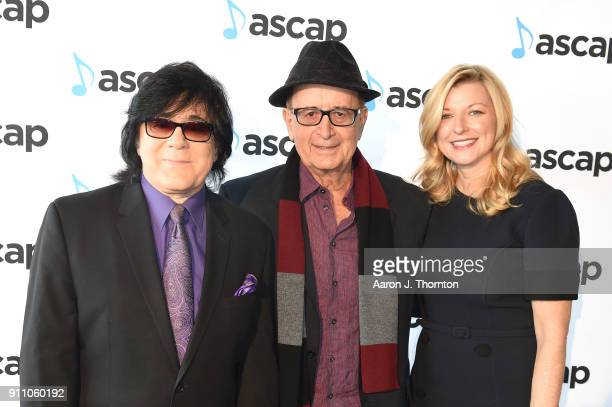 Executive Vice President Membership John Titta Antonio Adolfo and ASCAP CEO Beth Matthews attend the 2018 ASCAP Grammy Nominees Reception at Top of...