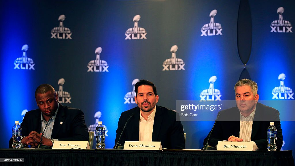 Super Bowl XLIX Football Operations Press Conference : News Photo