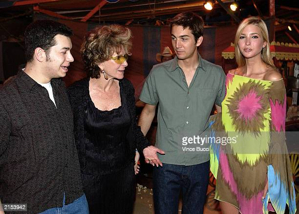 HBO executive vice president of original programming Sheila Nevins and Born Rich cast members S I Newhouse Jamie Johnson and Ivanka Trump attend a...