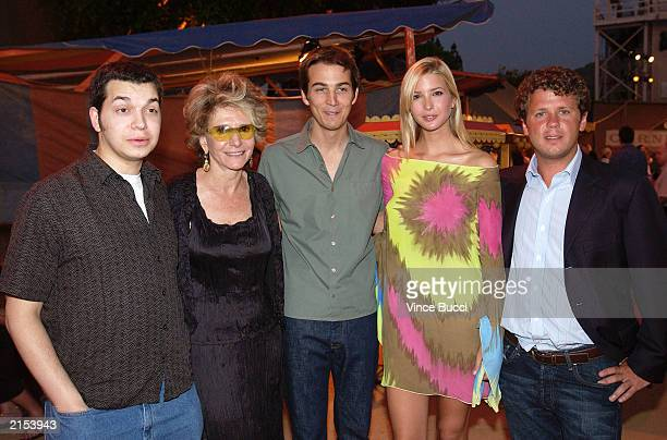 HBO executive vice president of original programming Sheila Nevins and Born Rich cast members S I Newhouse Jamie Johnson Ivanka Trump and Josiah...