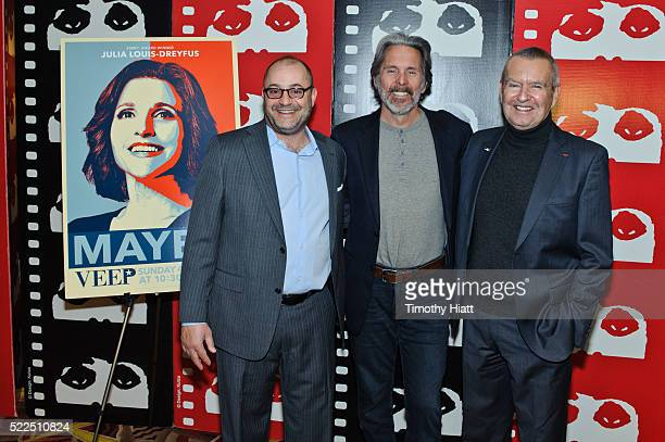 Executive Vice President of Production Bruce Richmond Gary Cole and Chicago International Film Festival founder Michael Kutza attend a screening of...