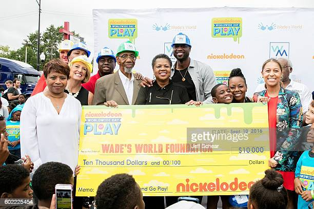 Executive Vice President of Public Affairs and Chief of Staff Viacom Kids and Family Group Marva Small Jolinda Wade Dwyane Wade guest Tragil Wade and...