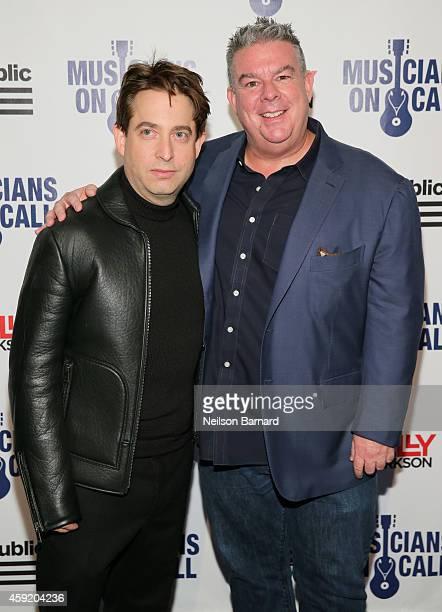 Executive Vice President Of Republic Records, Charlie Walk and Elvis Duran attend Musicians On Call Celebrates Its 15th Anniversary Honoring Kelly...