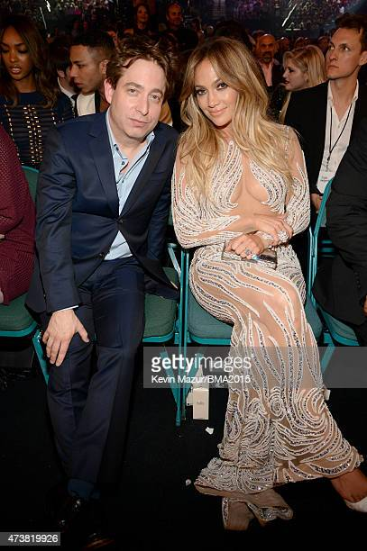 Executive Vice President of Republic Records Charlie Walk and actress/singer Jennifer Lopez attend the 2015 Billboard Music Awards at MGM Grand...