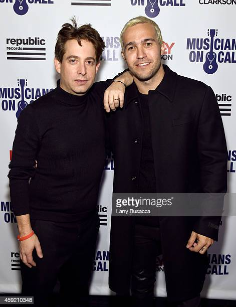 Executive Vice President Of Republic Records, Charlie Walk and Pete Wentz attend Musicians On Call Celebrates Its 15th Anniversary Honoring Kelly...