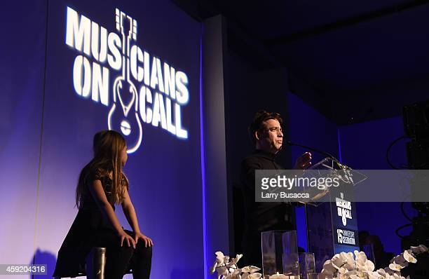 Executive Vice President Of Republic Records, Charlie Walk speaks onstage at Musicians On Call Celebrates Its 15th Anniversary Honoring Kelly...