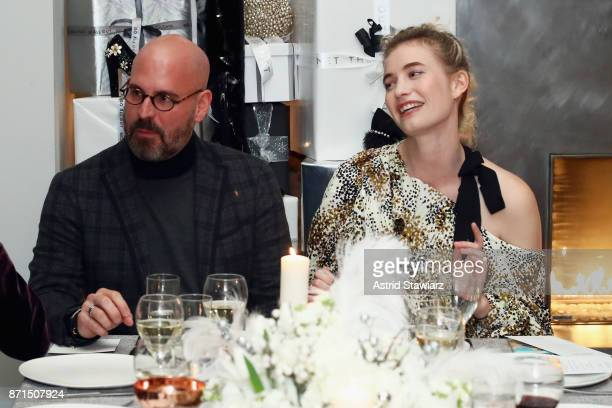 Executive Vice President of Sales Marketing and Creative at OUTNET Andres Sosa and Fashion blogger and influencer Zanita Whittington attend THE...