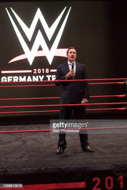 Executive Vice President of Talent Development Canyon at the WWE Live Tryout at the Motorworld on November 7 2018 in Cologne Germany