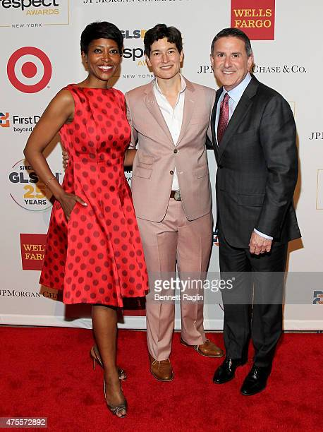 Executive Vice President of Target Laysha Ward, Executive Director of GLSEN Eliza Byard and CEO of Target Brian Cornell attend 2015 GLSEN Respect...