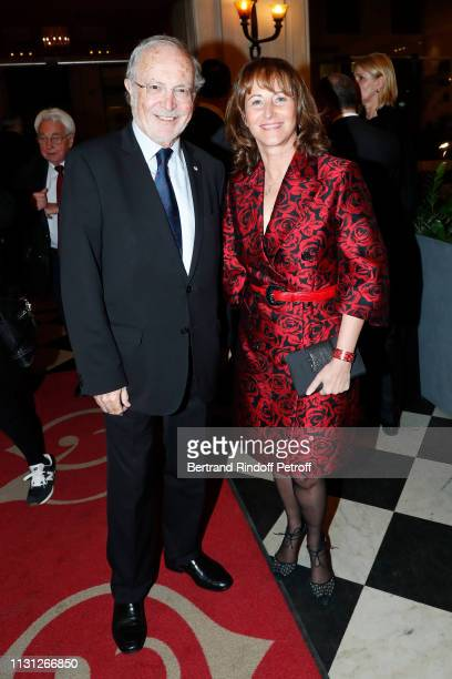 Executive Vice President of the 'Fondation Prince Albert II De Monaco' Bernard Fautrier and Segolene Royal attend the Fondation Prince Albert II De...