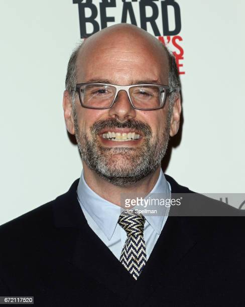 """Executive vice president of the James Beard Foundation Mitchell Davis attends the """"James Beard: America's First Foodie"""" NYC premiere at iPic Fulton..."""