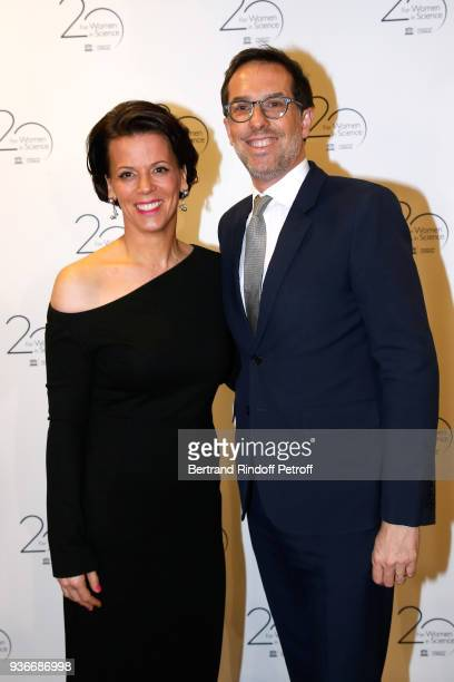 Executive Vice President of the L'Oreal Foundation Alexandra Palt and Deputy General Director at L'Oreal Nicolas Hieronimus attend the 2018 L'Oreal...