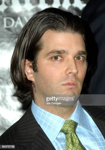 Executive vice president of the Trump Organization Donald Trump Jr attends the 'Day of Reckoning' press conference at Trump Tower January 20 2009 in...
