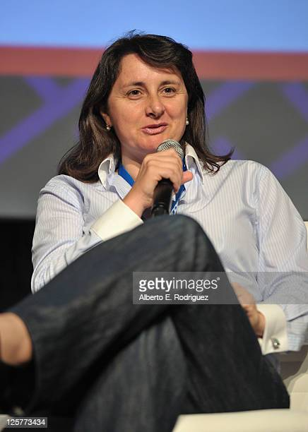 Executive Vice President of Visual Effects at Marvel Victoria Alonso speaks onstage during day 2 of Variety's 4th Annual 3D Entertainment Summit at...