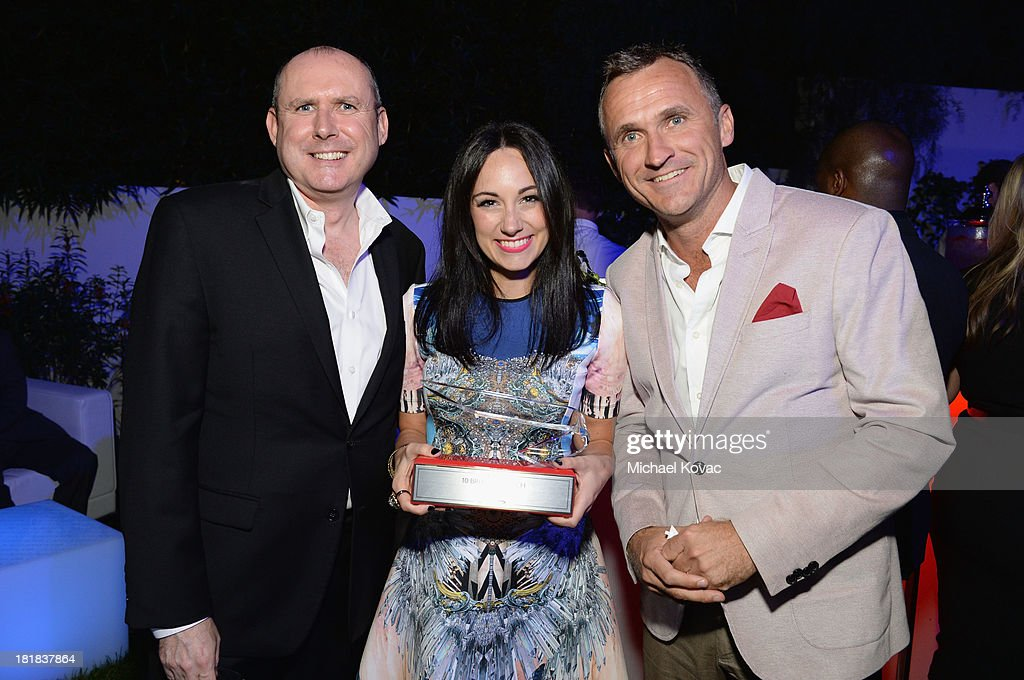 Executive Vice President PMC Paul Woolnough, musician Lauren Harris and SVP Sales, North America at British Airways Simon Brooks attend British Airways and Variety Celebrate The Inaugural A380 Service Direct from Los Angeles to London and Discover Variety's 10 Brits to Watch on September 25, 2013 in Los Angeles, California.