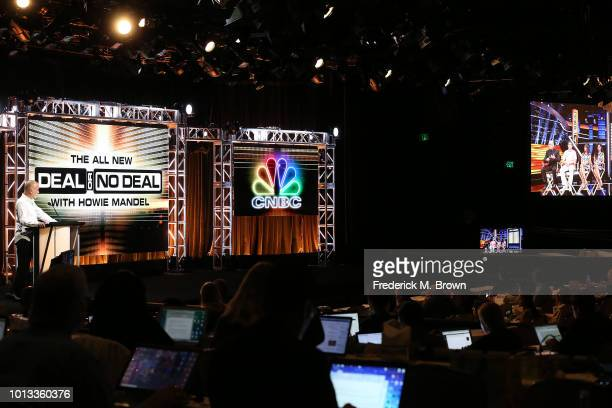 Executive Vice President/CNBC Alternative Jim Ackerman of the television showl 'Deal or No Deal' speaks during the CNBC segment of the Television...