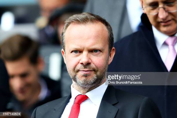 Executive ViceChairman of Manchester United Ed Woodward looks on during the Premier League match between Huddersfield Town and Manchester United at...