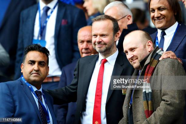 Executive ViceChairman of Manchester United Ed Woodward poses for a photo during the Premier League match between Huddersfield Town and Manchester...