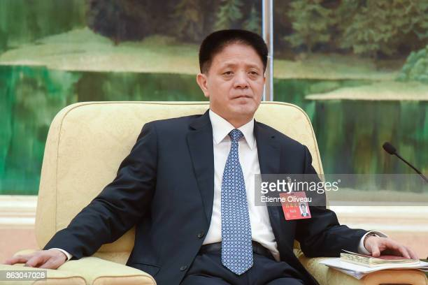 Executive ViceGovernor of Fujian Province People's Government Zhang Zhinan attends a meeting of the 19th Communist Party Congress at the Great Hall...