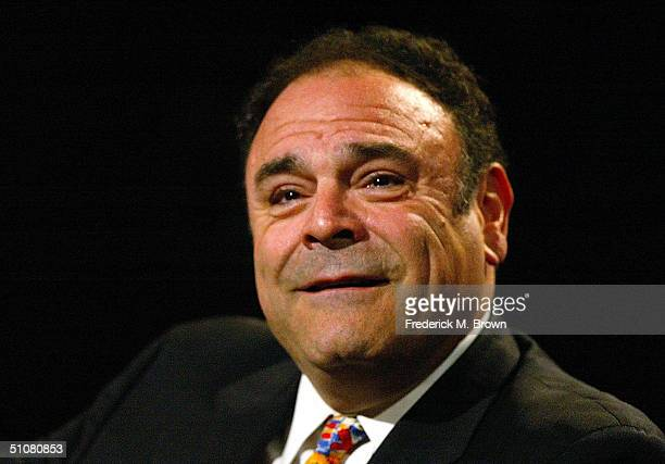 Executive VicePresident of Communications Gil Schwartz speaks with the press at the TCA Press Tour CBS Day 1 on July 18 2004 at the Century Plaza...
