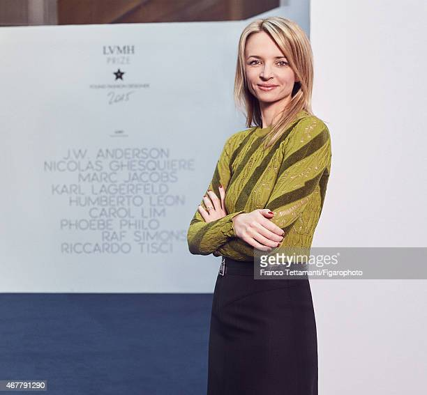 Executive vicepresident of Louis Vuitton Delphine Arnault is photographed for Madame Figaro on March 4 2015 in Paris France PUBLISHED IMAGE CREDIT...