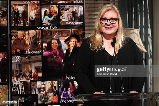 "Executive Vice-President Vicki Dummer attends the 100th episode celebration of ABC's ""Last Man Standing"" held at CBS Studios - Radford on January 12,..."