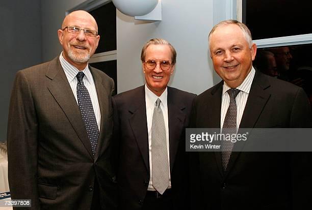 Executive VP of AFI Jonathan Estrin Western Territories Group John Cooke and hairman Walt Disney Studio Dick Cook pose at the National Italian...