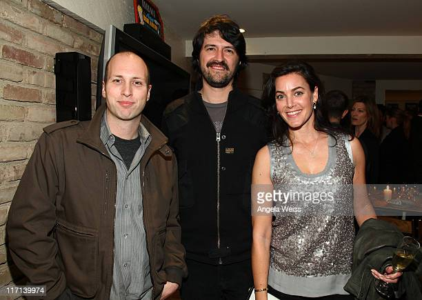 Executive VP of Atlantic Records Mike Caren producer Chris Kantrowitz and producer Jenny Fritz attend the Friends N Family Dinner at The Jack Warner...