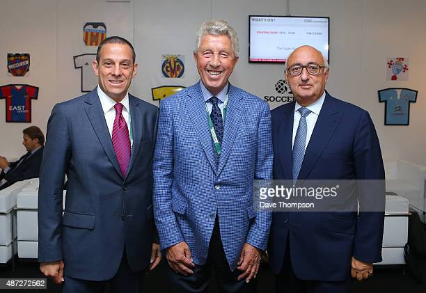 Executive VP of Wasserman Media Group Richard Motzkin, Football Agent Dennis Roach, and Jonathan Barnett owner of the Stellar Group during day four...