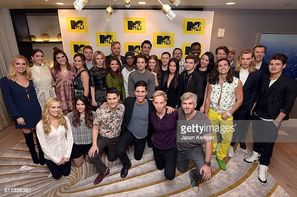 MTV executives and cast memebers attend the MTV Press Junket Cocktail Party at The London West Hollywood on February 18 2016 in West Hollywood...