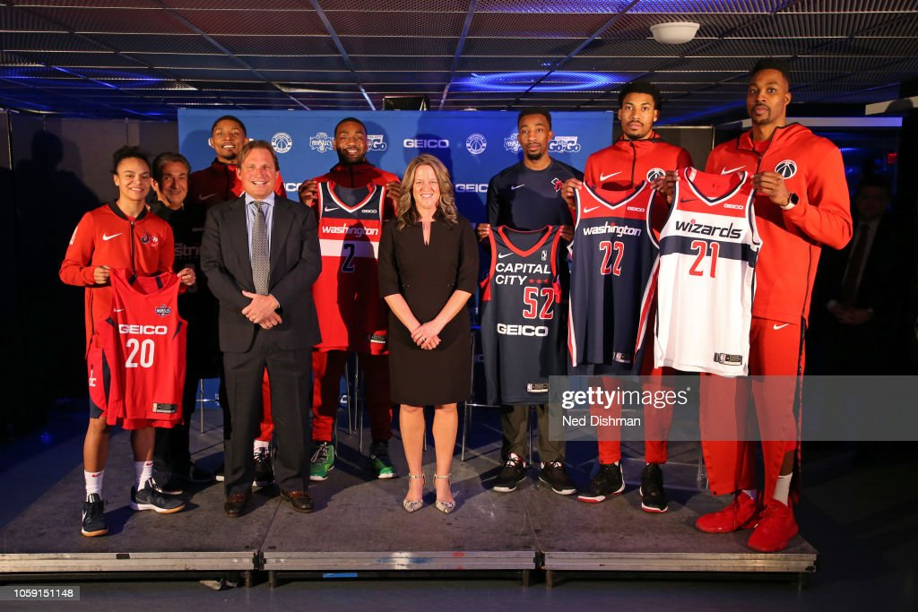 7ccce9fedcf Monumental Sports Jersey Badge Announcement Press Conference   News Photo