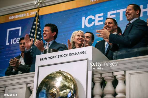 Executives from Intercontinental Exchange and Advisory Committee firms to ring the closing bell at the New York Stock Exchange on December 3, 2019 in...