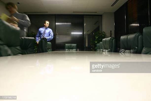 Executives in motion