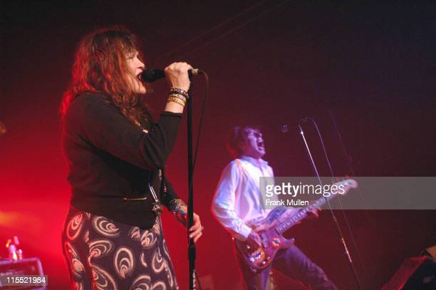 Exene Cervenka and John Doe of the band X during X in Concert at Masquerade in Atlanta December 2 2005 at Masquerade in Atlanta Georgia United States