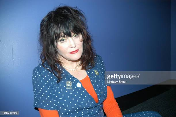 Exene Cervenka backstage before performing with X on June 16 2006 at the Nokia Theater in New York City