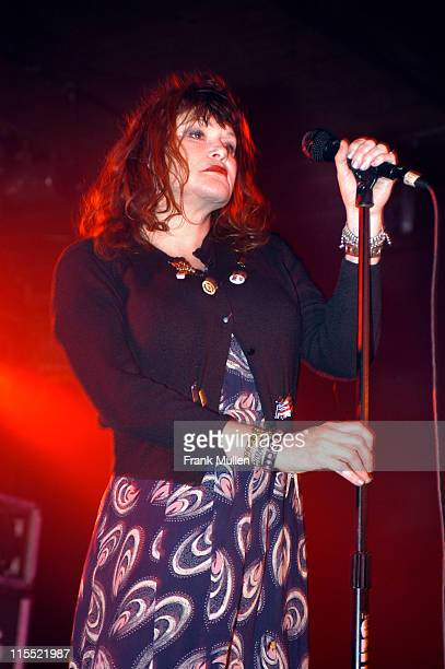 Exene Cervenka of the band X during X in Concert at Masquerade in Atlanta December 2 2005 at Masquerade in Atlanta Georgia United States
