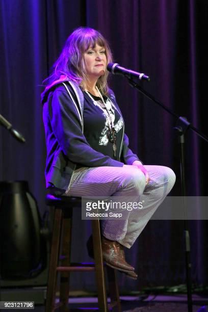 Exene Cervenkaa speaks onstage at Backstage Pass X's DJ Bonebrake and Exene Cervenkaa at The GRAMMY Museum on February 22 2018 in Los Angeles...