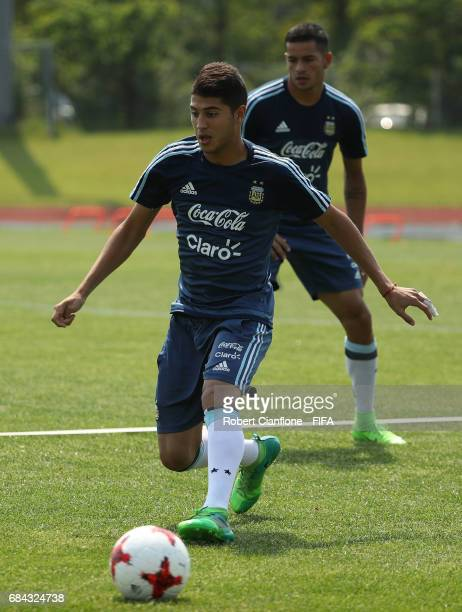 Exequiel Palacios of Argentina during an Argentina training session at the Jeonju World Cup Stadium Auxiliary Field ahead of the FIFA U20 World Cup...