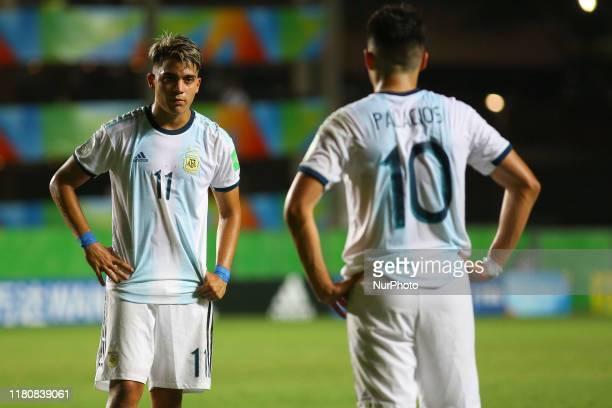 Exequiel Zeballos and Matias Palacios during the FIFA U17 World Cup Brazil 2019 round Paraguay x Argentina at Estadio Kleber Andrade on November 07...