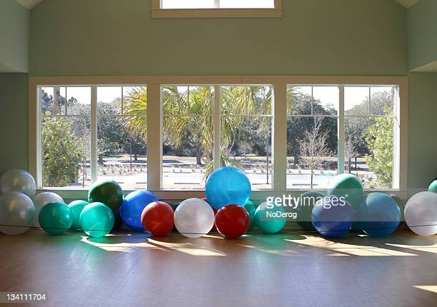 Exercise balls in training room