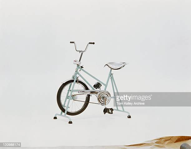 Exercise bike on white background