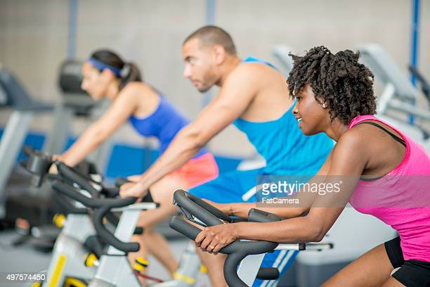Spin Class at the Gym