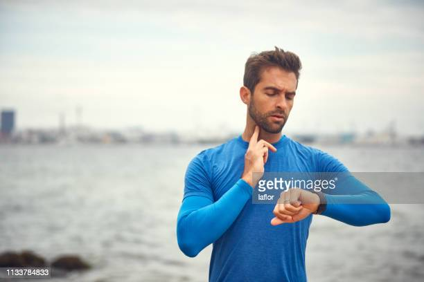 exercise makes the heart beat faster - pulse trace stock pictures, royalty-free photos & images