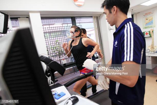 Exercise Physiologist Glen Matthew Joe with Features health writer Rachel Jacqueline undergoes tests and training at the Institute of Human...