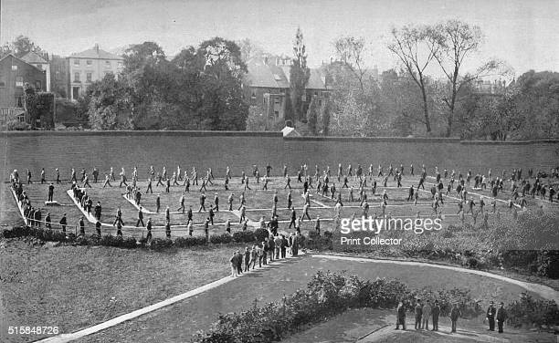 Exercise yard at Holloway Prison London circa 1901 Holloway Prison opened as a mixedsex prison in 1852 but became female only in 1903 From Living...