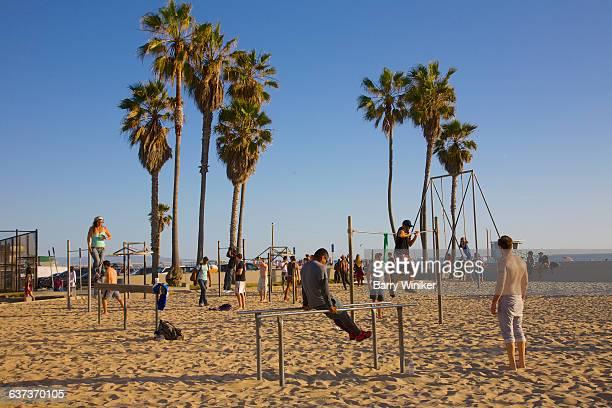 Exercises at Muscle Beach, Venice, California