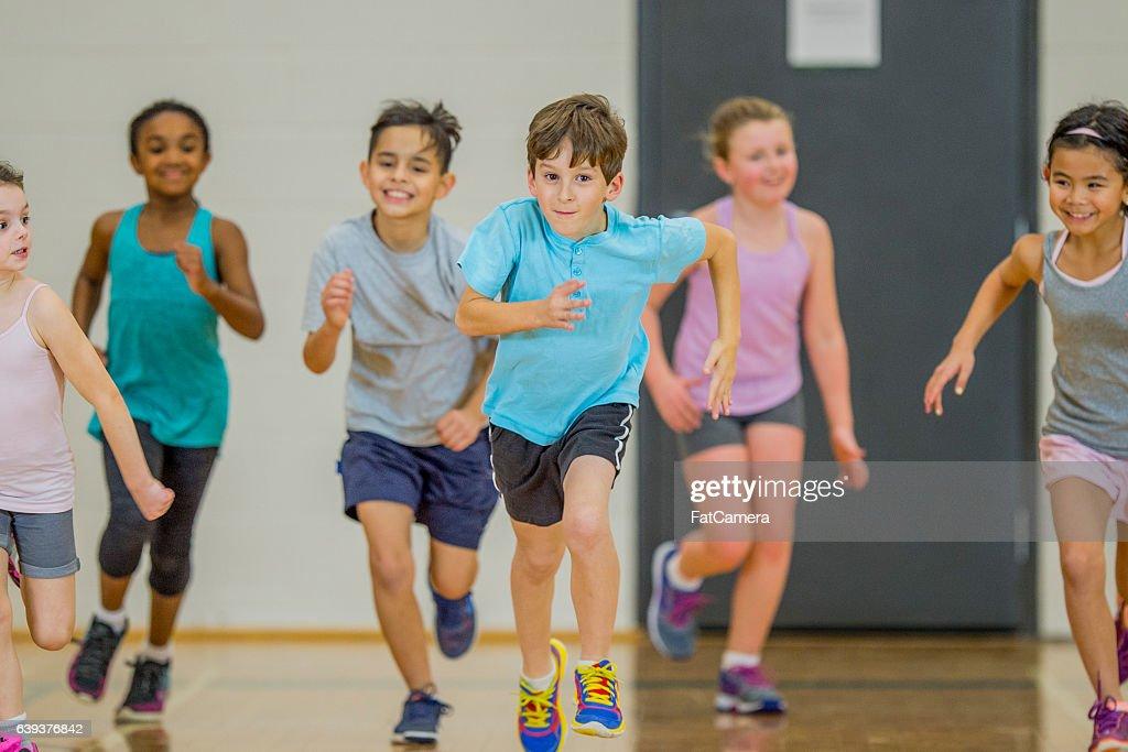 Exercising as a Class : Stock Photo
