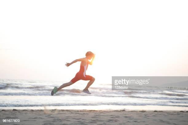 Exercising At Beach