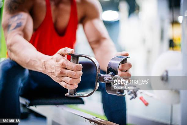 exercising back muscles in gym - drazen stock pictures, royalty-free photos & images